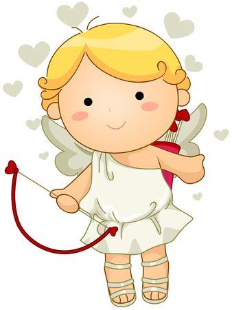 angel cartoon: A Cute Cupid