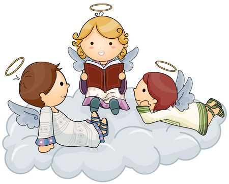 Angel telling Stories  Stock Photo - 6652920