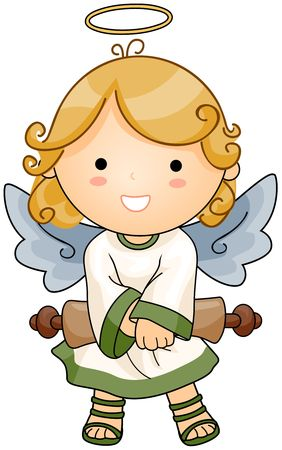 Angel holding Scroll Stock Photo - 6810718