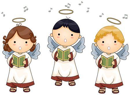 cutout: Angels singing