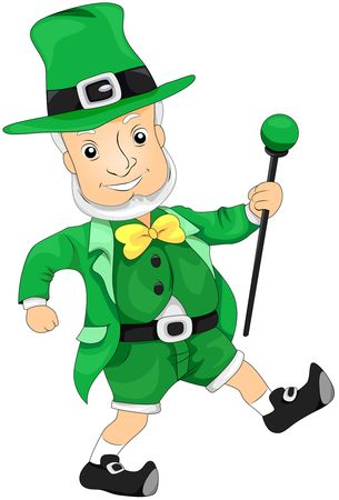 Leprechaun with Cane Stock Photo - 6810655