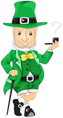 threeleaf: Leprechaun Smoking