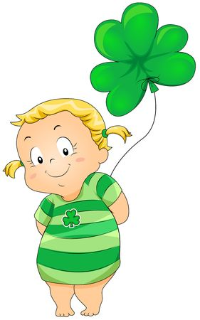 threeleaf: Young Girl in St Patrick Costume
