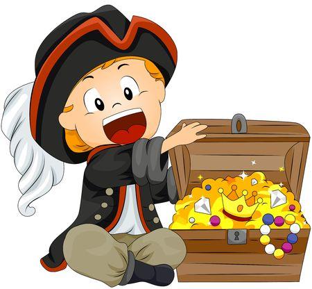 rich: Boy Pirate  Stock Photo
