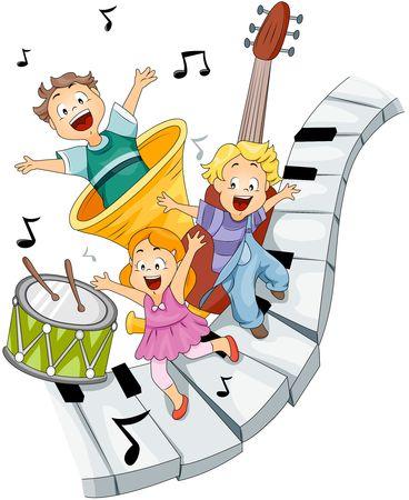 instrumentos musicales: Ni�os con instrumentos musicales