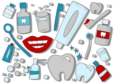 mouthwash: Dental Icons  Stock Photo
