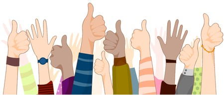 thumbs up group: Thumbs up