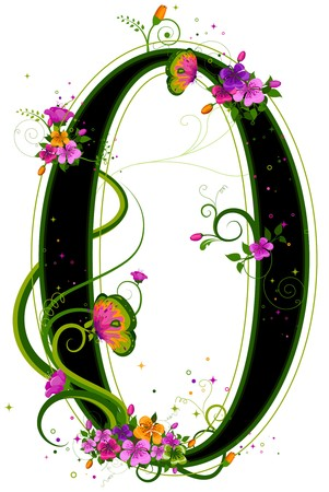 numbers clipart: Floral Numbers