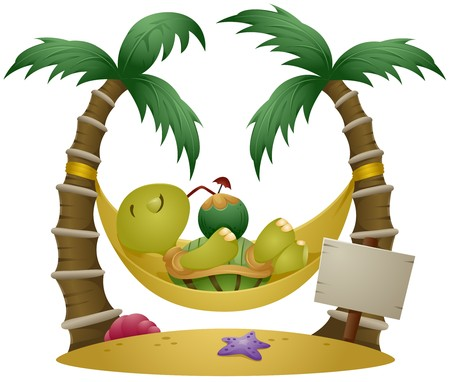 island clipart: Turtle on Vacation