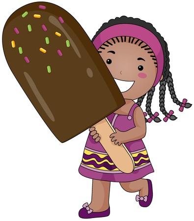 helado de chocolate: Chica con hielo Candy