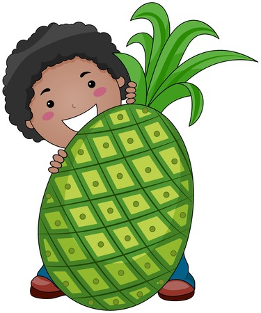 Boy with Pineapple photo