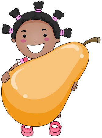 Girl with Pear  photo