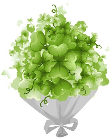 Bouquet of Shamrocks Stock Photo - 7110560