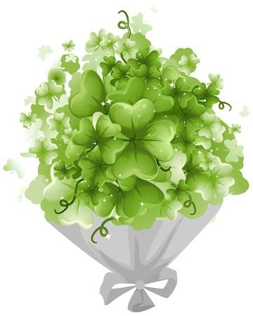 threeleaf: Bouquet of Shamrocks