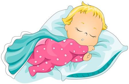 baby clip art: Sleeping Baby