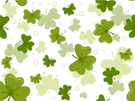 seamless clover: Seamless Clover Background  Stock Photo
