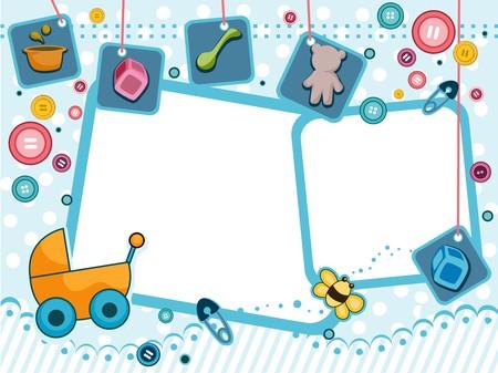 baby clip art: Baby Frames Design