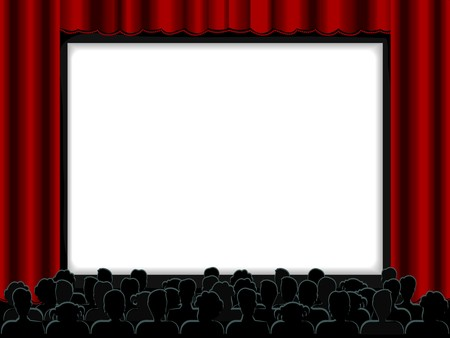 cinema screen: Theater Design Frame Stock Photo