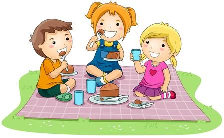 playmates: Niños comer pastel en el Parque