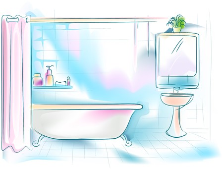 Bathroom Illustration Stock Illustration - 7334703