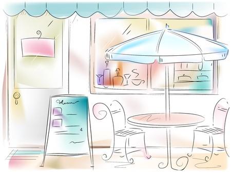 restaurant exterior: Restaurant Illustration
