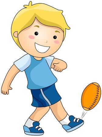 jugando futbol: F�tbol juego de pelota  Foto de archivo