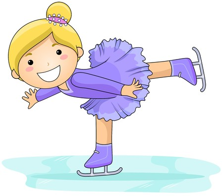 Girl Figure Skating  Stock Photo