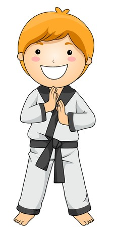 taekwondo: Boy in Martial Arts Pose