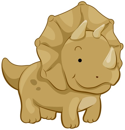 Cute Triceratops Stock Photo - 7393998