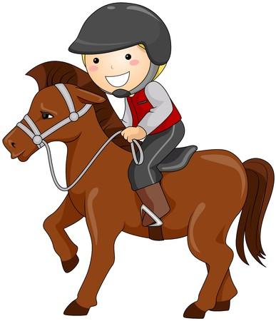 hobby horse: Boy Horseback Riding