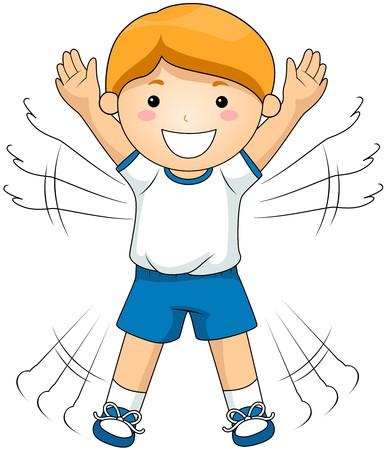 educacion fisica: Chico haciendo saltos Jacks