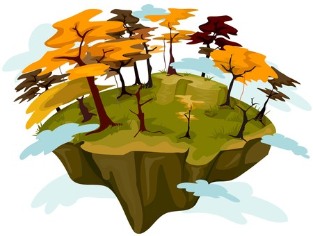 floating island: Autumn Floating Island