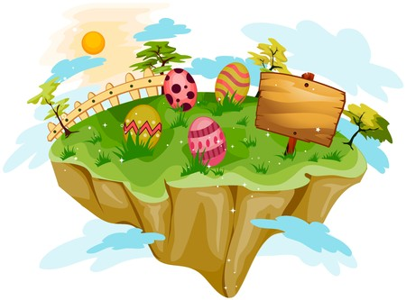 floating island: Easter Floating Island Stock Photo