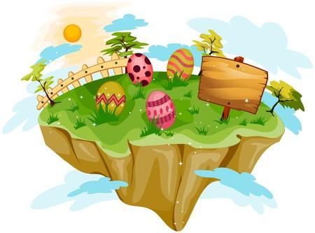 isla flotante: Isla de Pascua flotante