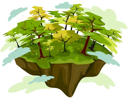 floating island: Forest on Floating Island