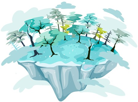 isla flotante: Isla flotante de invierno