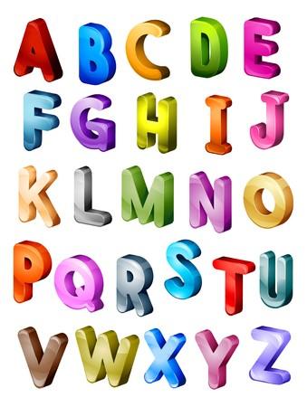 Isometric Alphabet in Capital Letters Stock Photo - 7394218