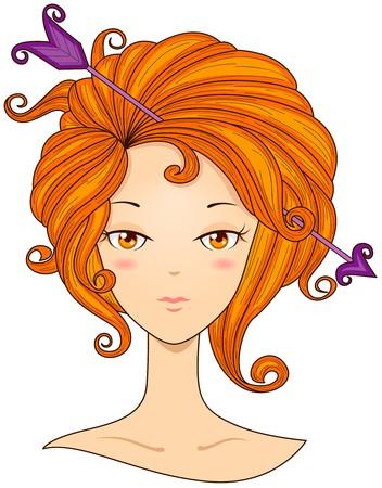 sagittarius: Sagittarius Girl  Stock Photo