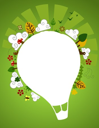 hot air: Hot Air Balloon Nature Design