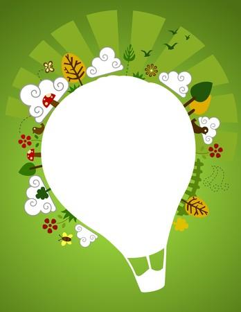 Hot Air Balloon Nature Design Stock Photo - 7412417
