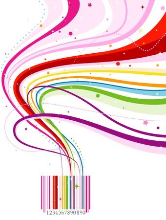 codigos de barra: C�digo de barras de Rainbow abstracta