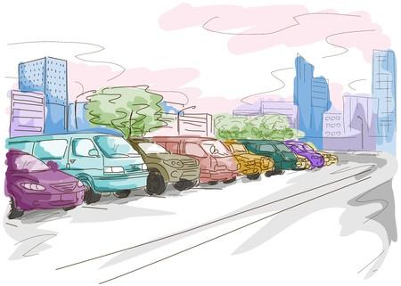 lot: Parking Lot Illustration
