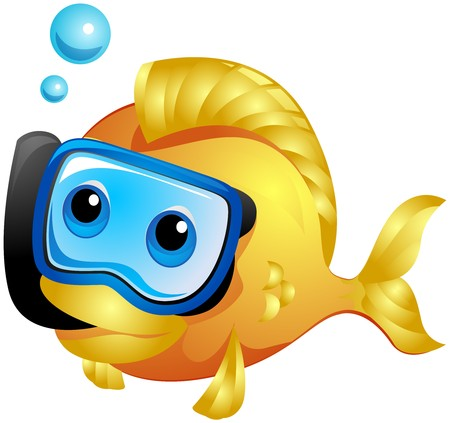 fish clipart: Fish Snorkeling