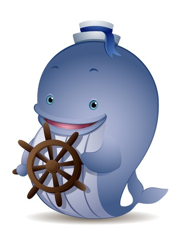cartoon whale: Captain Whale