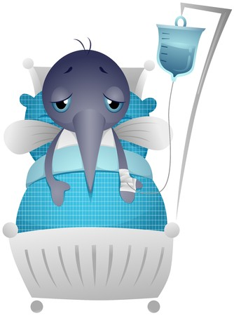 Sick Mosquito in Hospital Bed Stock Photo - 7465203