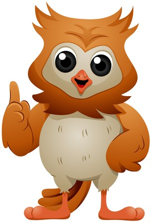 owl illustration: Talking and Gesturing Owl   Stock Photo