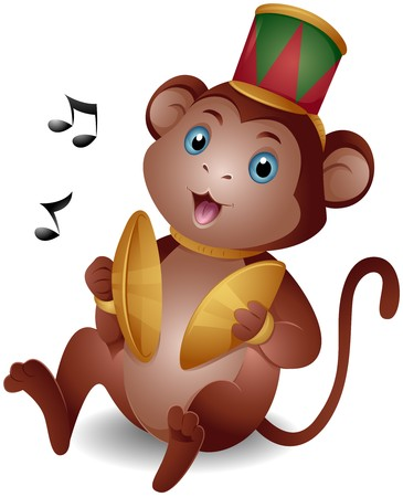cymbals: Monkey with Cymbals   Stock Photo