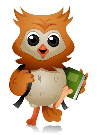 Owl Student Stock Photo - 7465172