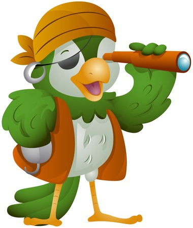 Parrot Pirate   Stock Photo - 7465180
