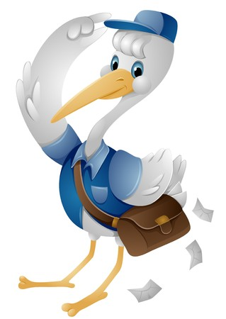Stork Mailman  Stock Photo